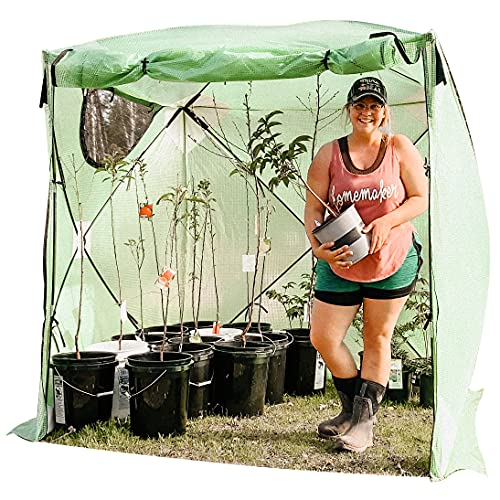 Kradl Instant, Portable Greenhouses for Outdoors | 5-1/2 ft x 5-1/2 ft | Pop Up Greenhouse Kit | Portable Canopy for Plants 69 x 69 x 81 Inches