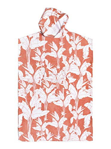 Roxy Damen Beach Supplies Stay Magical - Surf-Poncho, Terra Cotta Flying Flowers S, 1SZ, ERJAA03700