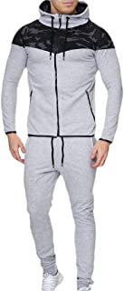 Men's Sports Suit Tracksuit Full-Zip Running Jogging Sports Jacket and Pants Set