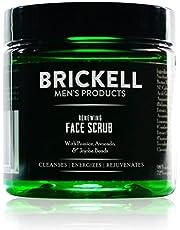 Brickell Men's Zuiverende Gezichtsscrub voor Mannen, Natuurlijke en Organische Diepe Reiniging, Gezichtsscrub met Jojoba Parels, Koffie-extract en Puimsteen, Geurend