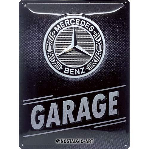 Nostalgic-Art Mercedes-Benz - Garage Blechschild 30 x 40 cm, Metall, Vintage-Dekoration, 30x40 cm
