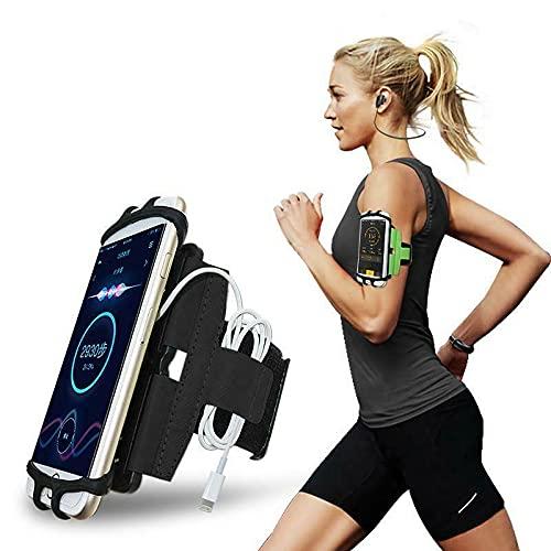 CoverKingz Universal Sport Halterung für Smartphones von 4,0 – 7,0 Zoll - Sportarmband Armtasche mit Schlüsselfach - Handy Tasche zum Laufen Schwarz