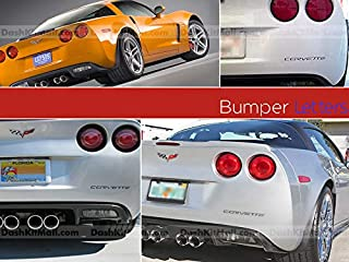 SF Sales USA - Black Rear Bumper Letters fit Corvette C6 2005-2012 Plastic Inserts Not Decals