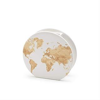 Vaso in ceramica CIRCLE, decoro Map