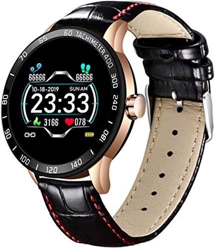 Smart Watch Men s Fitness Smart Watch IP67 Podómetro de presión Arterial de frecuencia cardíaca para Android iOS Smart Watch-H