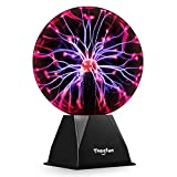 Theefun True 8 Inch Magic Plasma Ball , Touch & Sound Sensitive Plasma Lamp Light, Nebula Sphere Globe Novelty Toy for Decorations/Kids/Bedroom