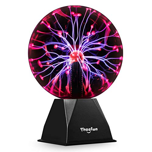 Plasma Ball, Theefun 8 Inch Touch & Sound Sensitive Plasma Lamp, Nebula Sphere Plasma Globe Novelty Toy for Decorations/Kids/Bedroom
