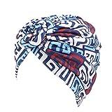 Kopfwickelschal Baumwollstirnband Stretch Turban Hut Retro Ethnischer Stil Geknotete Mütze Böhmische Kopftuch Wickelschals für Damen Mädchen