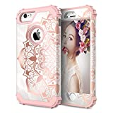 ZHK iPhone 6s Case, iPhone 6 Case for Girls Women Mandala Heavy Duty Shockproof Protection Hard PC+Silicone Rubber Protective Case for iPhone 6/6s