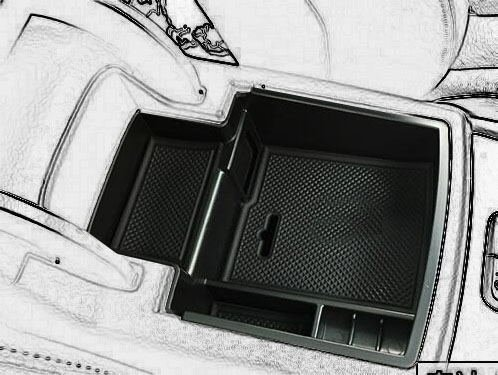 Price comparison product image Car Center Console Tray Armrest Secondary Storage Center Console Organizer Car Glove Box for 2008-2016 Audi Q5 by Kaungka