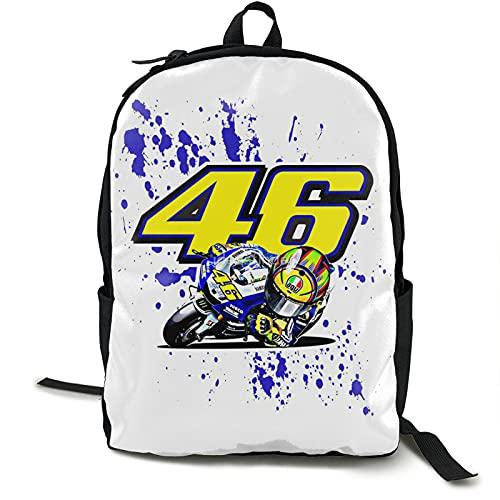 Valentino Rossi VR46 Bagpack per Escursionismo Zaino Ciclismo Arrampicata Campeggio Corsa Borse 12.5L* 5.5W* 16.5H in