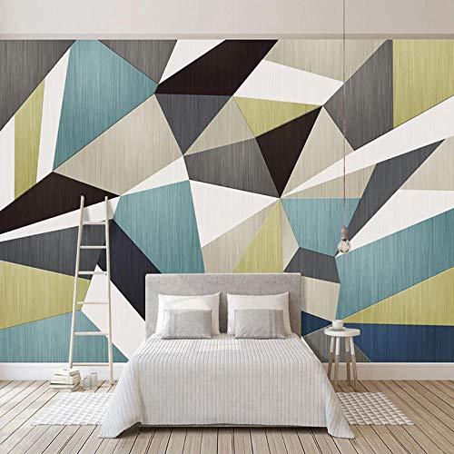 Msrahves fotomurales xxl Creativo geométrico colorido nórdico 210X140CM Papel Pintado Pegamento Fotomurales Vista 3D Sala Living Oficina Dormitorio Foto Mural Pared 3D Fotomurales decorativos