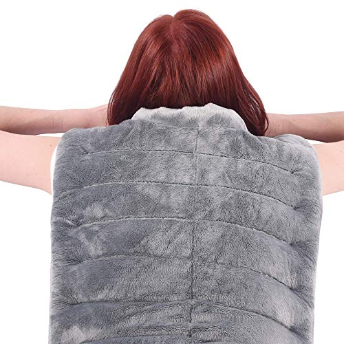 Mars Wellness Premium Heated Herbal Hot/Cold Therapy Neck, Shoulder and Back Wrap - 16 x 24 - Weighted Aromatherapy Pad - Made in The USA - Lavender and Other Herbs
