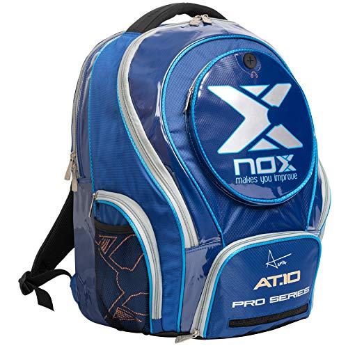 NOX AT10 Pro Series Mochila de pádel  Juventud Unisex  Azul  50 35 20 cm
