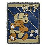 NORTHWEST NCAA Pittsburgh Panthers Woven Jacquard Tapestry Throw Blanket, 36' x 46', Fullback/Half Court