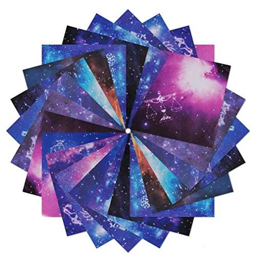 Origami, 210 Hojas Origami para Niños,Grulla de Papel Origami, Diseños vibrantes de Hermosos Espacios Exteriores de la Galaxia y Temas de constelaciones
