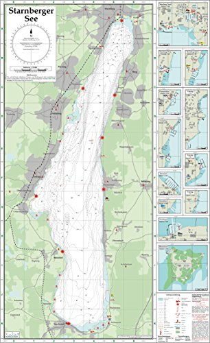 Seekarte Starnberger See 1: 25.000