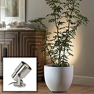 """Pro Track Brushed Nickel 8"""" High Accent Uplight - Pro Track (B0000DI4D1) 