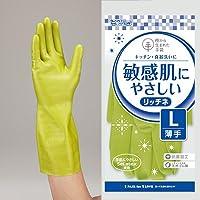 樹から生まれた手袋 リッチネ うす手 10双セット (L, グリーン)