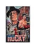 Asher Rocky Balboa Film Ispirato Boxe Palestra Fitness Retro Parete Targa di Latta Bar Targa Design retrò Targa in Metallo Decorativo da Parete Birra Club Dimensioni 20cm*30cm (8inch * 12inch)
