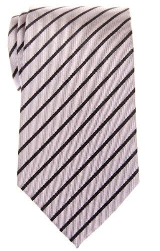 Retreez - Cravate - Rayures - Homme - Argenté - Taille Unique