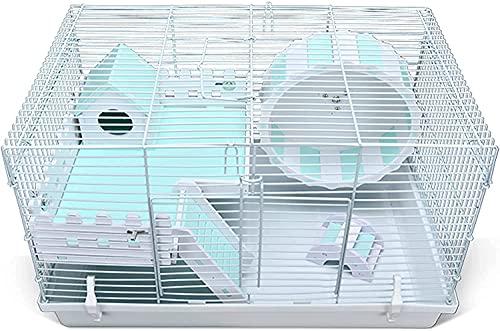 LITINGT Nido de Conejillo de Indias, Jaula de Conejillo de Indias Plegable de Dos Niveles, hábitat de Jaula de Animales pequeños, casa de Conejillos de Indias y Animales pequeños con Accesorios, 47