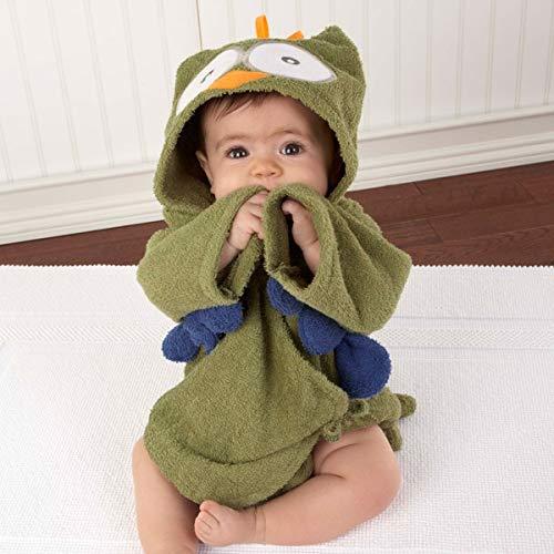 FEIYI Albornoz de bebé con diseño de panda, de algodón puro con capucha, toalla de baño de playa/ratones, bata de spa (color: búho, talla L)
