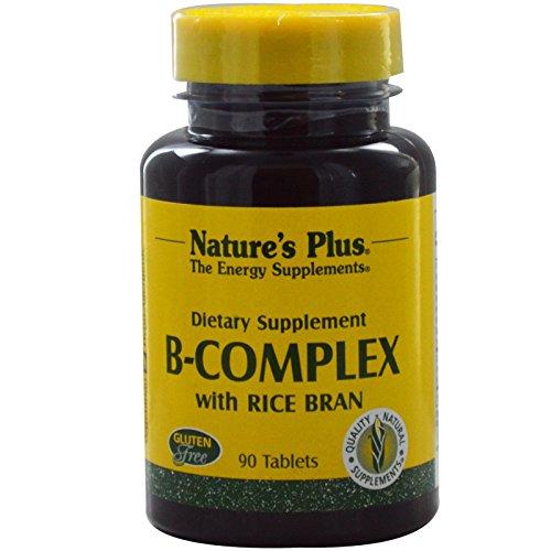 Natures Plus B-Komplex with Rice Bran (Reiskleie) 90 Tabletten