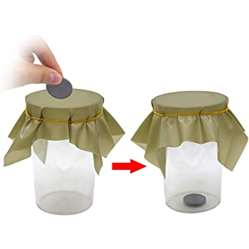 Coin Thru Glass CloseUp New Magic Trick Prop Tray Money Penetrate Dish Effect ZB