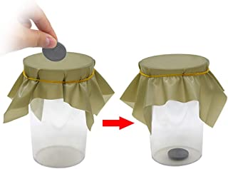 Black Hole Magic Tricks Coin Penetration Dish Coin Thru Rubber Sheet into Cup Magician Props Mentalism Magic Gimmick Illusion,5Pcs/Lots