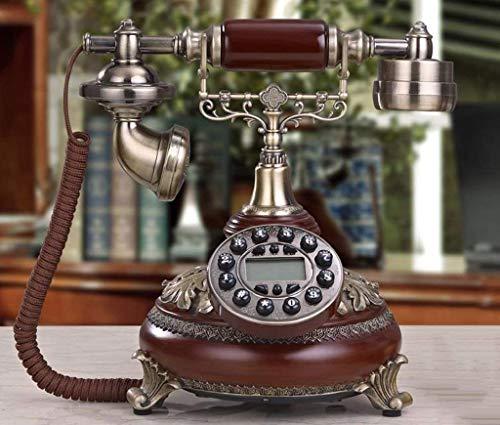 Dirgee Teléfono Antiguo, teléfono Fijo Creativo a 'Old/Old House 25x22x26cm Teléfono móvil (Color: # 4) (Color : #2)