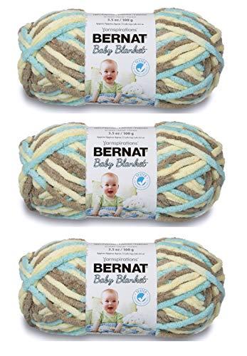 Bernat Baby Blanket Yarn Beach Babe, 3.5 Oz, 3-Pack