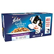 Felix As Good As It Looks Adult Cat Food Mixed Selection in Jelly, 40 x 100g