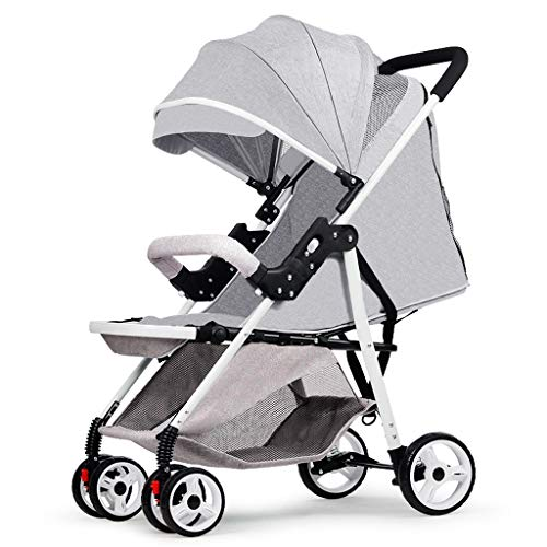 BLWX - La lumière Peut s'asseoir inclinable Poussette Pliante Amortisseur Chariot bébé Poussette Enfant Voiture Wagon léger Poussette (Couleur : Gray)
