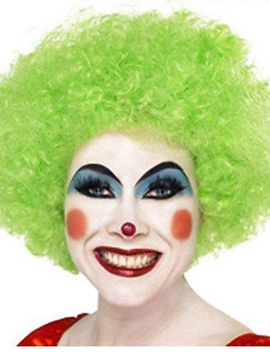 Perruques cheveux européens Noël nécessaire haute qualité verts Explosion cheveux bouclés la perruque