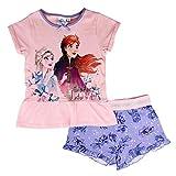 Pijama niña Disney Frozen II camiseta y pantalón corto de algodón estampado 2819 Rosa 8 años