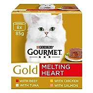 Gourmet Gold Melting Heart Cat Food, Meat & Fish Multipack, 48 x 85g