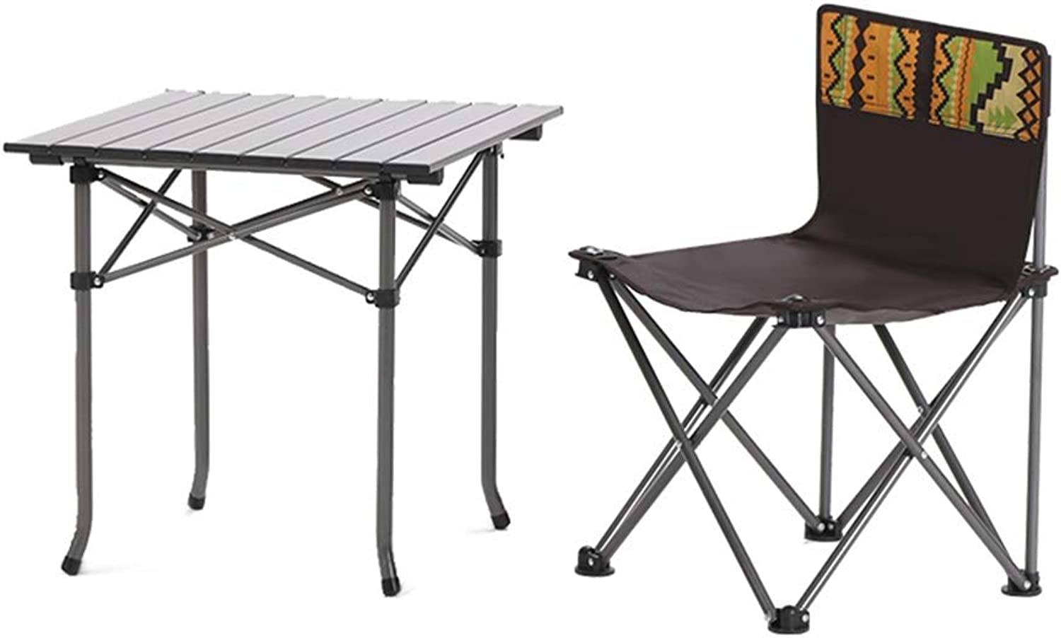 Beach Camping Concert Folding Chair and Table, Ideal for Camp, Travel, Picnic, Festival, Hiking, Party Seat Load 220lbs