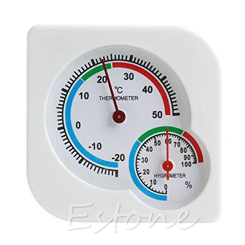 Kofun - Termómetro digital para esquiar, para interiores y exteriores, higrómetro, temperatura y humedad A7