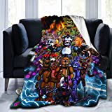 Five Nights at Fr-EDD-ys Warm Soft Comfy Flannel Throw Blanket, Fit Bed Sofa Camping Bedspread Blanket, Gift for All Seasons 50'X40'