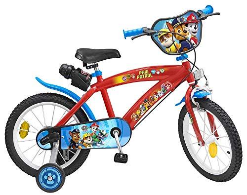 16 Zoll Disney Kinder Jungen Fahrrad Kinderfahrrad Jungenfahrrad Kinderrad Rad Bike Paw Patrol Blau Rot