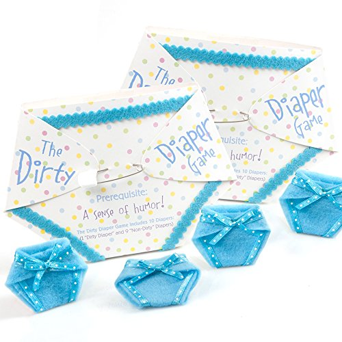 The Dirty Diaper Game - Baby Shower Game - Blue (20 Diapers)