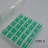 25Vert bobines en boîte Plastique pour machines à coudre Husqvarna Viking 4131825–45
