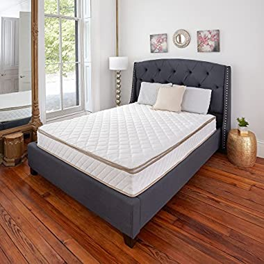 Classic Brands Individually Wrapped Coils Innerspring Pillow Top 10-Inch Mattress for Added Comfort and Support, Queen