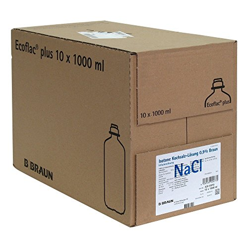Kochsalzl�sung 0,9% Ecoflac Plus, 10X1000 ml
