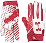 Under Armour Men's Spotlight Football Receiver Gloves,Red (600)/Red, Small/Medium