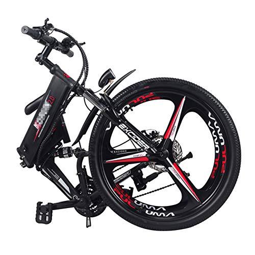 FJNS Bici de montaña Eléctrica 24 '' con aplicación de Sistema de posicionamiento GPS (36V 250W), Bicicleta eléctrica de 21 velocidades y Tres Modos de Trabajo: Velocidad máxima 30-50 km/h