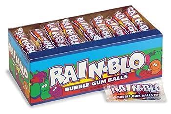 Rain-Blo Bubble Gum Balls 0.53 Ounce Tube Pack Of 48