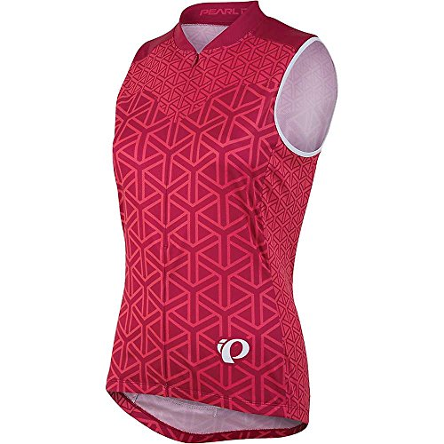 Pearl Izumi - Ride Damen Select ärmelloses Semi-Form Fit Jersey, GEO Rouge Red, Medium
