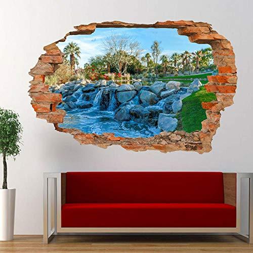 MXLYR Pegatinas de pared California Park Waterfall Wall Sticker 3D Art Poster Decal Mural
